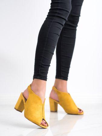 Női szandál 69196 + Nőin zokni Gatta Calzino Strech, sárga és arany árnyalat, 38