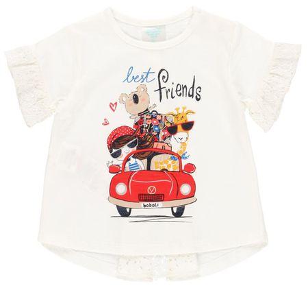 Boboli lány design póló 232029, 104, krémszínű