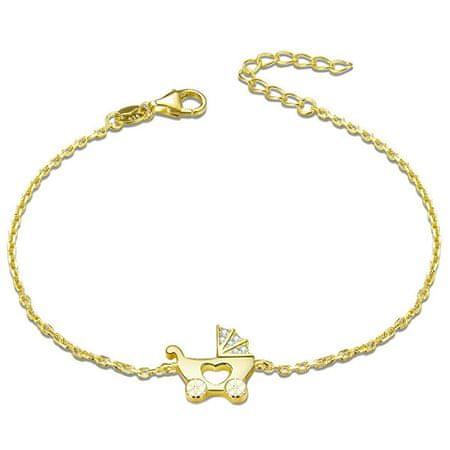 Beneto Aranyozott ezüst karkötő Babakocsi AGB578/21-GOLD