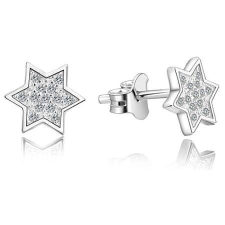 Beneto Ezüst csillag fülbevalók AGUP2241