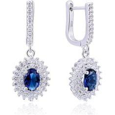 Beneto Ezüst fülbevaló kék cirkónium kövekkel AGUC2247