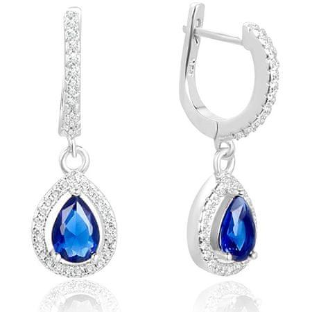 Beneto Ezüst fülbevaló kék cirkónium kövekkel AGUC2248