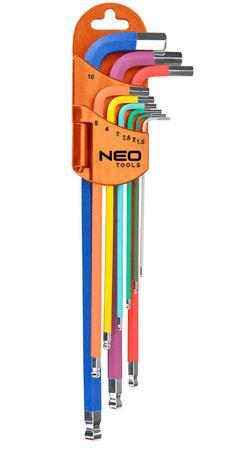 NEO Tools set inbus ključev, 9-delni, barvni (09-512)
