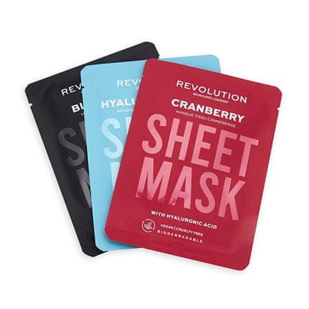 Revolution Skincare Arcmaszk készlet dehidratált bőrre Biodegradable (Dehydrated Skin Sheet Mask)
