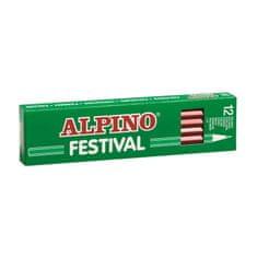 Alpino Krabica 12 farebných ceruziek Alpino Festival ružová