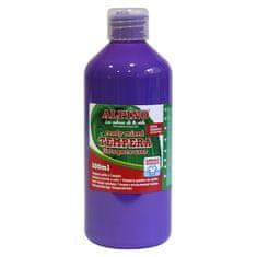 Alpino Fľaša temperové farby do školy 500 ml. fialová