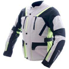 Cappa Racing Bunda moto pánska MELBOURNE textilná sivá / fluo / čierna