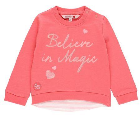 Boboli 212005 dekliški pulover z bleščicami, roza, 104