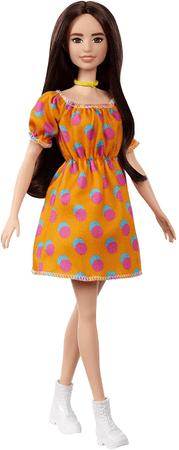 Mattel Barbie Modell 160 - Narancssárga ruha pöttyökkel