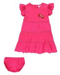 Boboli 242110 komplet za djevojčice haljina i gaćice