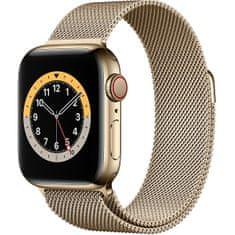 4wrist Ocelový milánský tah pro Apple Watch - Zlatý 38/40 mm