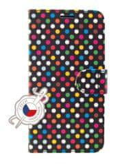 FIXED Pouzdro typu kniha FIXED FIT pro Huawei P30 - motiv Rainbow Dots