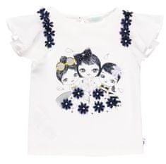 Boboli dívčí tričko s řaseným rukávem 702212