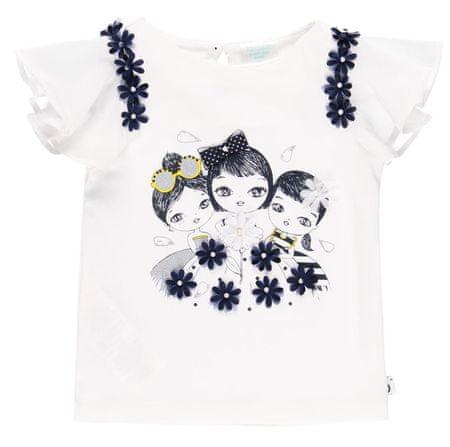 Boboli majica za djevojčice s volanima 702212, 80, bijela