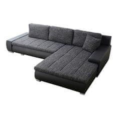 TEMPO KONDELA Toniks L/P rohová sedačka s rozkladom a úložným priestorom biela / berlin 01