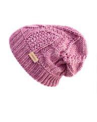Lasoul Pletená čepice Old Pink