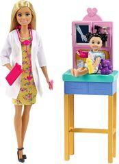 Mattel lalka Barbie Bądź Kim Chcesz - Pediatra, zestaw, blondynka