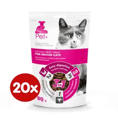 thePet+ Cat Indoor treat priboljški za mačke, 20×80 g