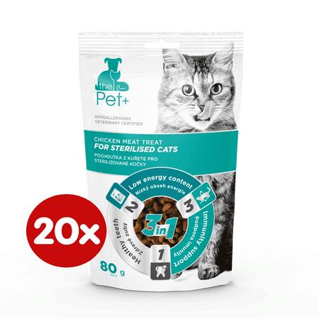 thePet+ Cat Sterilised treat slastice za sterilizirane mačke, 20×80 g