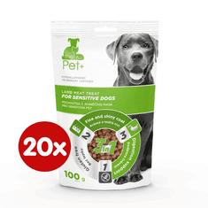 thePet+ dog Sensitive treat priboljški za občutljive pse, z jagnjetino, 20×100 g