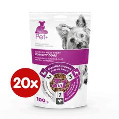 thePet+ dog City treat priboljški za mestne pse, s piščancem, 20×100 g