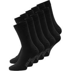 Jack&Jones 10 PACK - pánské ponožky JACJENS 12125756 Black
