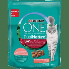 Purina ONE Dual Nature sterilizirana hrana za mačke brusnica s lososom 8x750 g