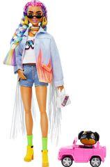 Mattel Lalka Barbie Extra w dżinsowej kurtce z frędzlami