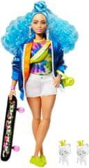 Mattel Barbie Extra z deskorolką