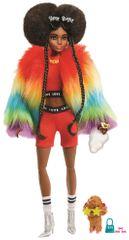 Mattel Barbie Extra v dúhovej bunde
