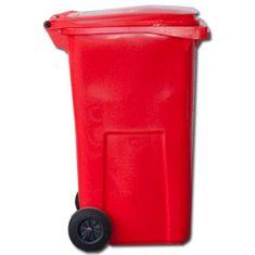 Contenur Popolnice 120 L Červená plastová
