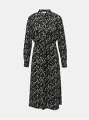 Jacqueline de Yong černé květované košilové midišaty Piper