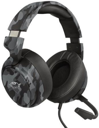 Trust słuchawki gamingowe GXT 433K Pylo Camo Black (23939)