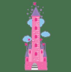 Megaprint stenska nalepka Princeskin grad