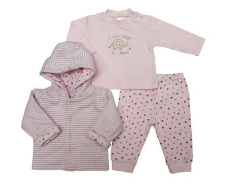 Just Too Cute komplet za djevojčice, zvijezde, 74, ružičasti