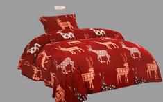 Povlečeme vše Obliečky Mikroflanel - Vianočný sob červený