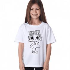 Megaprint Dekliška majica LOL - pobarvaj si sam