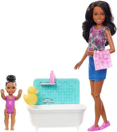 Mattel Barbie babysitter káddal, afroamerikai