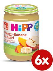 HiPP BIO Jablká s mangom a banánmi - 6x190 g - 6x190 g