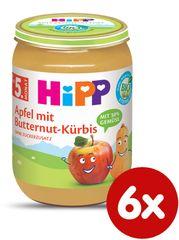 HiPP BIO Jablko s maslovou tekvicou od uk.4. mesiace, 6 x 190 g