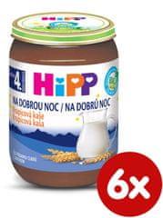 HiPP BIO na dobrú noc krupicová 6 x 190 g