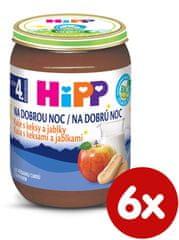 HiPP BIO Kaše na dobrou noc s keksy a jablky 6×190 g