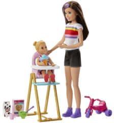 Mattel Barbie babysitter etetőszékkel