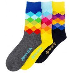 MEATFLY 3 PACK - zokni Pixel socks S19