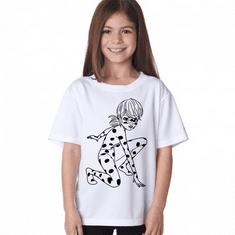 Megaprint Dekliška majica Miraculous - pobarvaj si sam