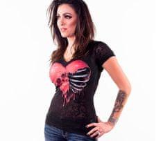 Lethal Threat dámske tričko Rib Cage Skull grey