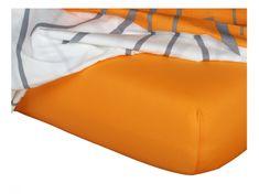 Dadka Jersey prostěradlo pomeranč 90x220x18 cm