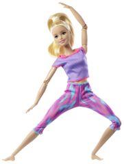 Mattel Barbie V pohybe blondínka v modrom tope