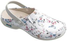 Nursing Care BERLIM pracovní kožená pratelná obuv s certifikací dámská s páskem květy WG4APF1 Nursing Care Velikost: 35