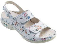 Nursing Care HELSINKI pracovní kožený pratelný sandál s certifikací dámský květy WG9F1 Nursing Care Velikost: 35